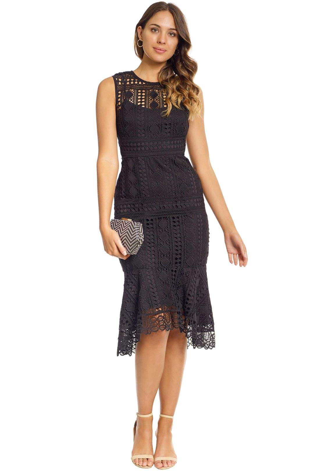 Shoshanna - Noe Dress - Front - Black