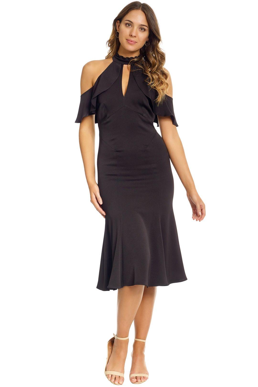 Shoshanna - Sausalito Midi Dress - Front - Black
