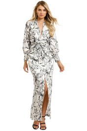 Significant-Other-Claribell-Dress-Monochrome-Palm-Front