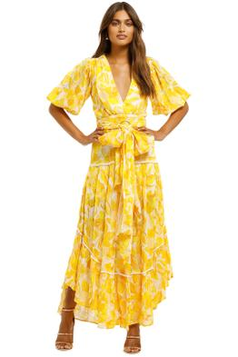 Significant-Other-Isla-Dress-Golden-Floral-Front