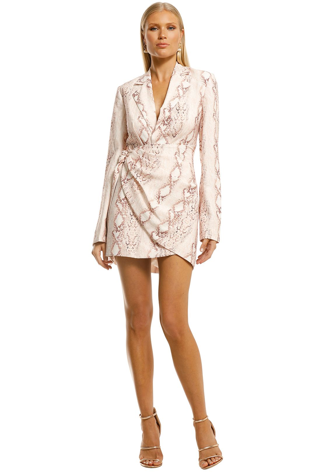 Significant-Other-Reflection-Blazer-Dress-Snake-Front