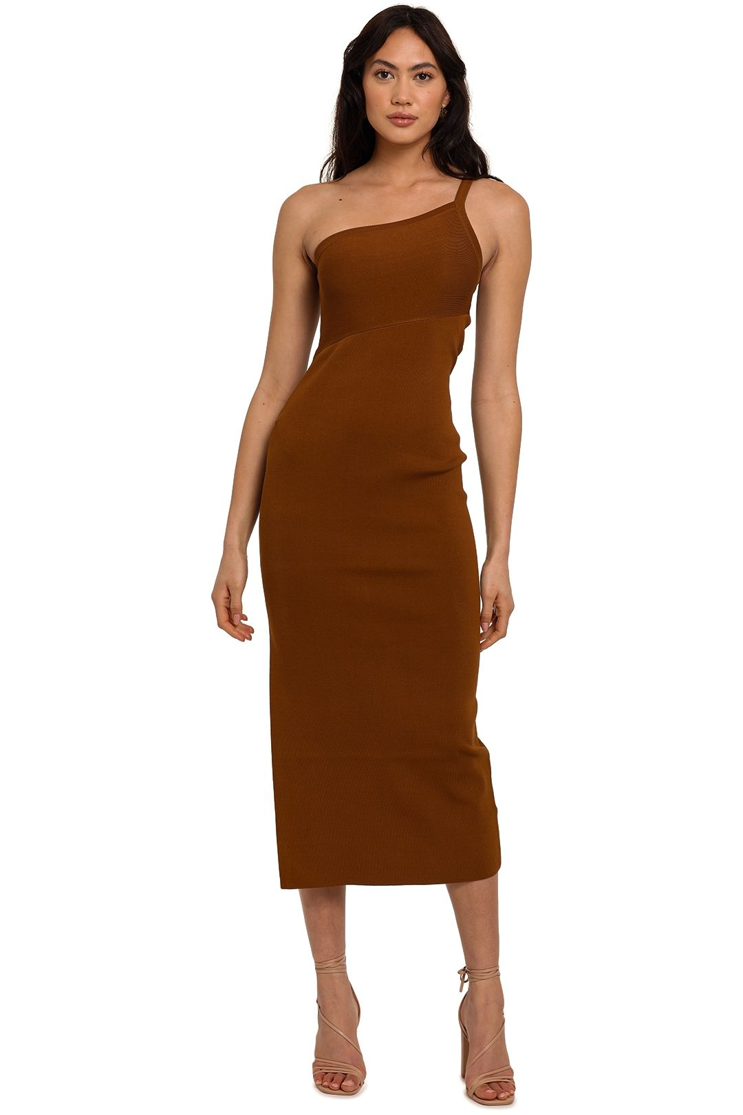 Significant Other Alicia Knit Dress Chocolate midi