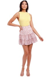 Significant Other Angelina Mixed Floral Mini Skirt