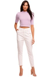 Significant Other Ariana Short Sleeve Lilac Knit Top purple