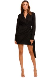 Significant Other Cecile Long Sleeve Black Mini Dress