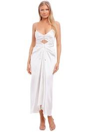 Significant Other Gigi Ivory Polka Dot Evening Dress