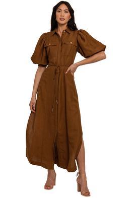 Significant Other Hazel Dress Chocolate midi