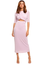 Significant Other Mila Lilac Short Sleeve Midi Dress cutout
