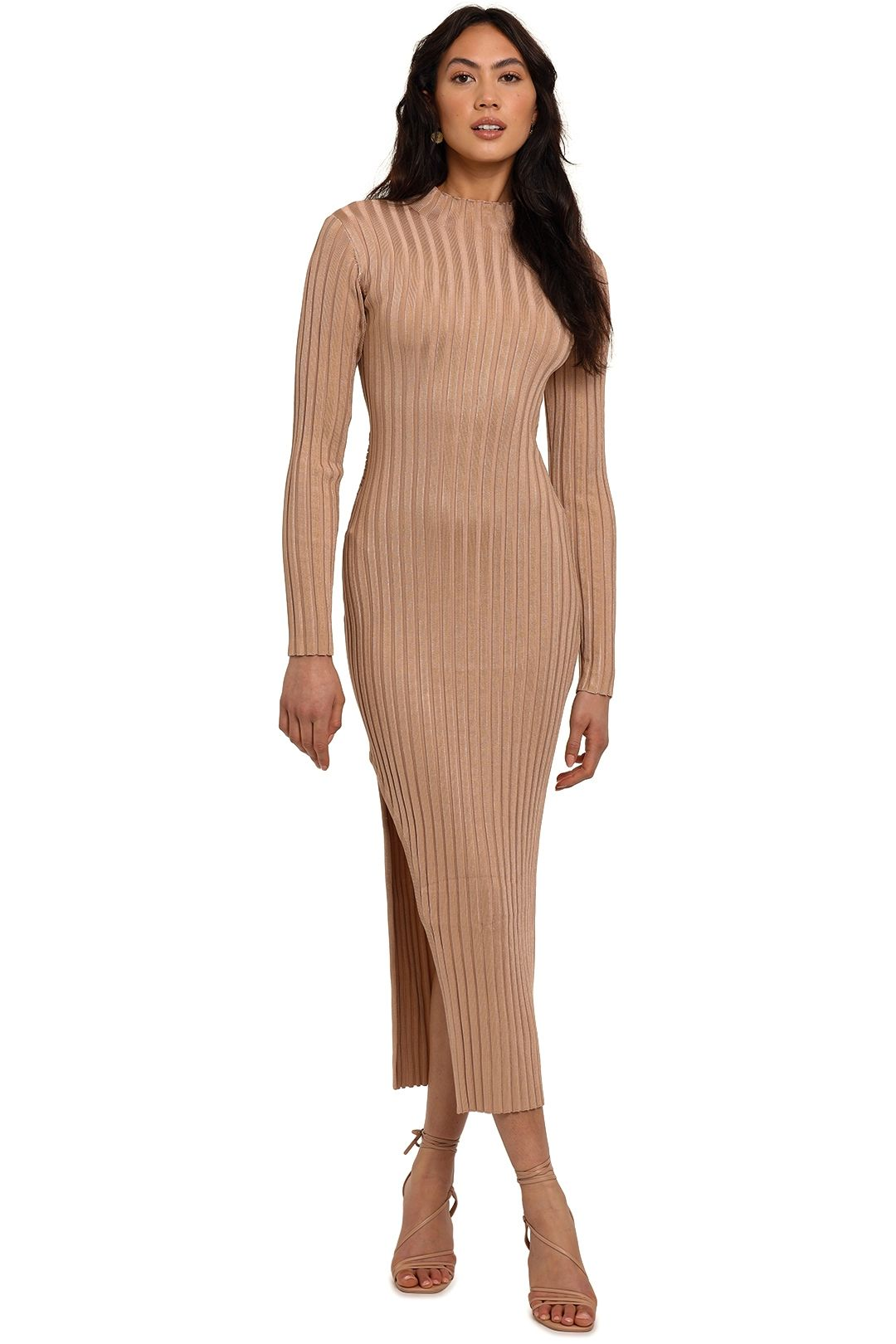 Significant Other Sylvia Knit Dress Champagne midi