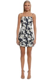 SIR the Label - Bellagio Mini Dress - Black Floral - Front