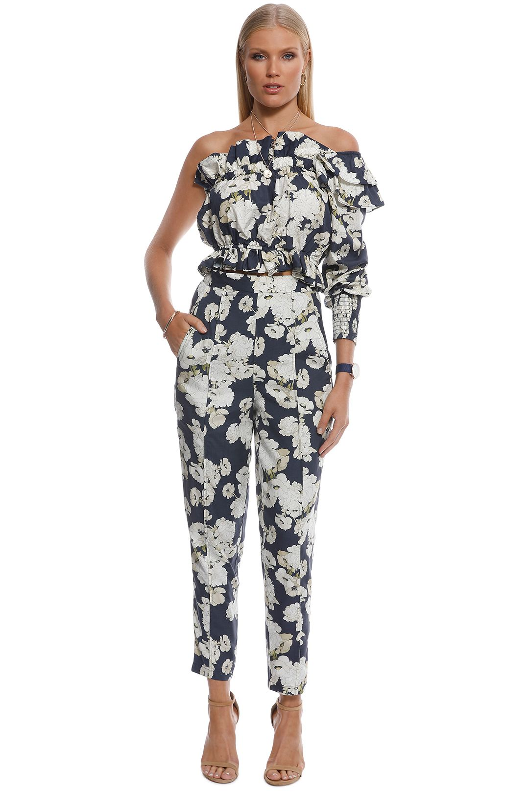 SIR the Label - Bellagio One Shoulder Top - Multi - Front