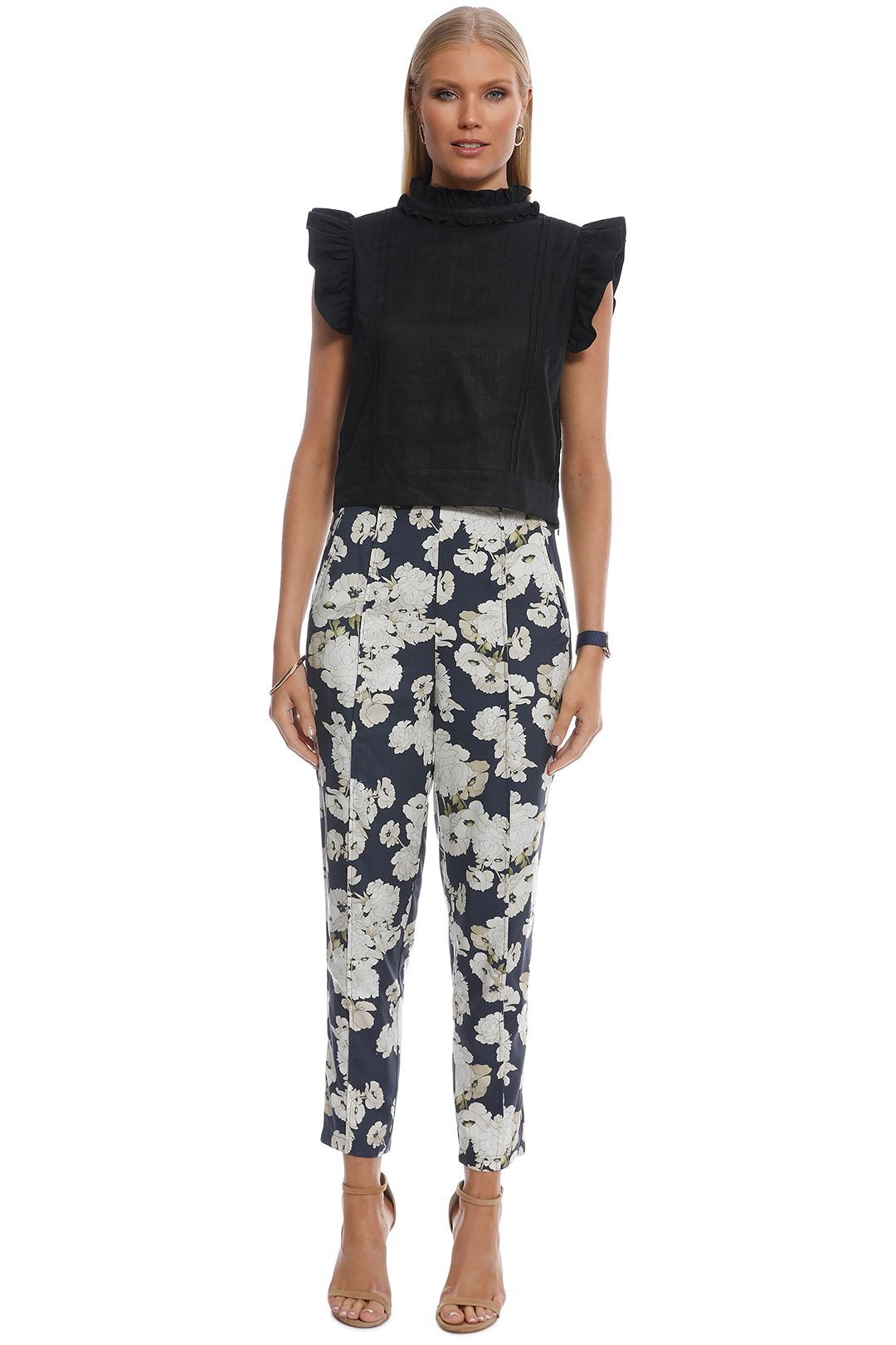 SIR the Label - Bellagio Panelled Pant - Multi - Front