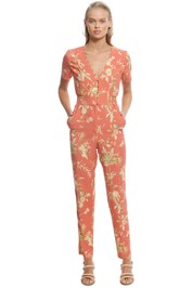 SIR The Label - Florentine Panelled Jumpsuit - Orange - Front