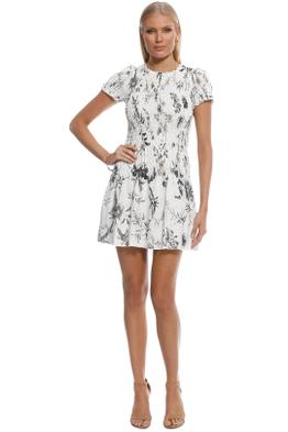SIR the Label - Mariele Ruched Tee Mini Dress - White - Front