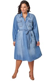 Something and Olivia Dolly Denim Dress