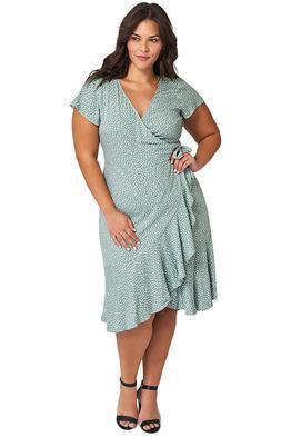 Something and Olivia Ursula Print Midi Dress