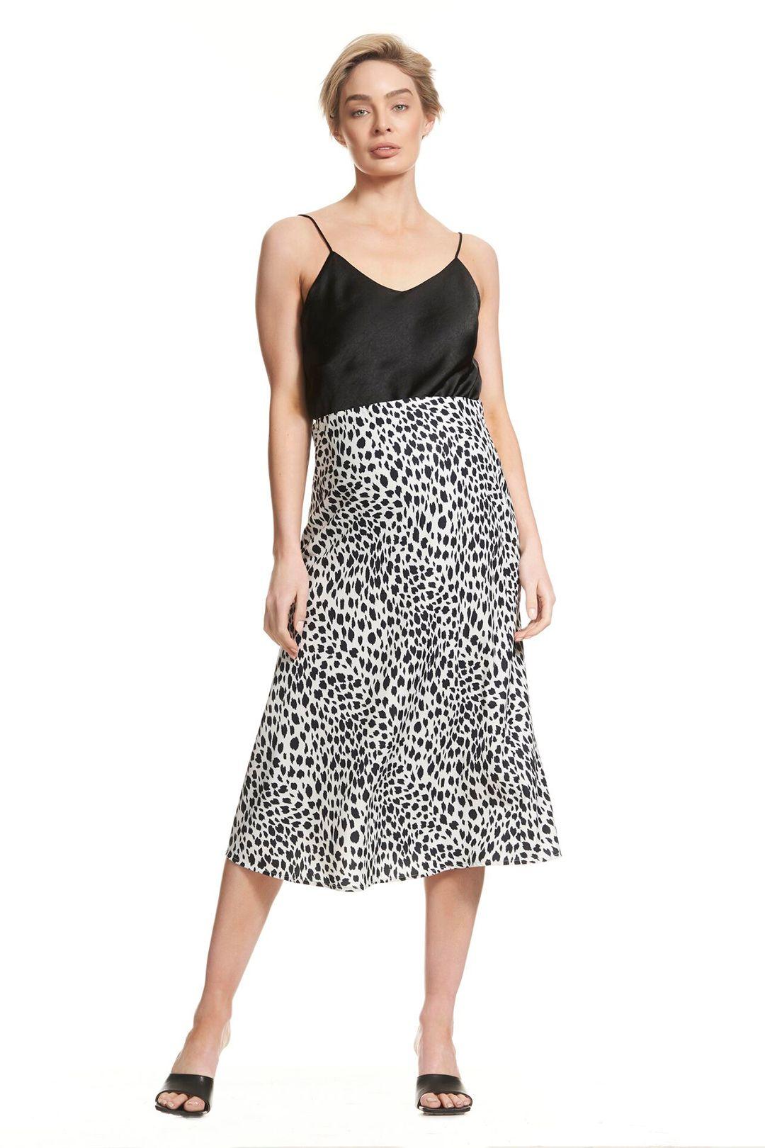 Soon-Maternity-Bias-Slip-Skirt-Snow-Leopard-Front