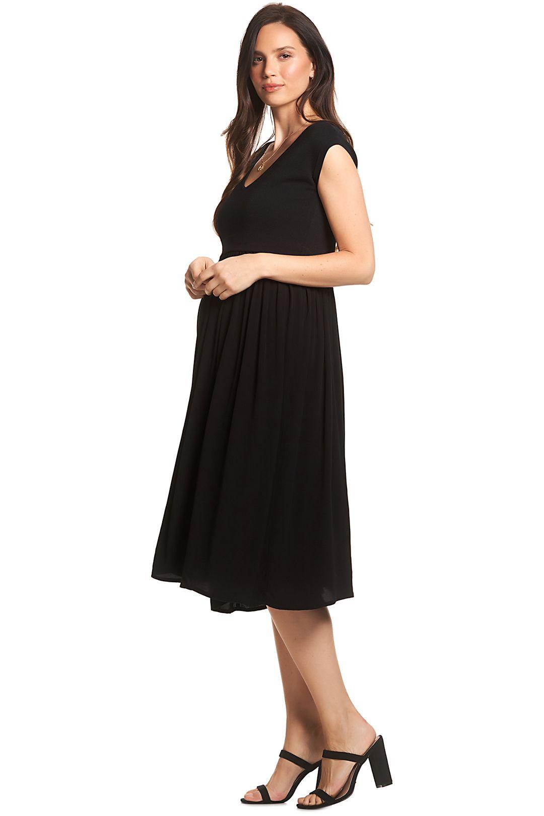 Soon-Maternity-Francis-Feeding-Midi-Dress-Black-Side