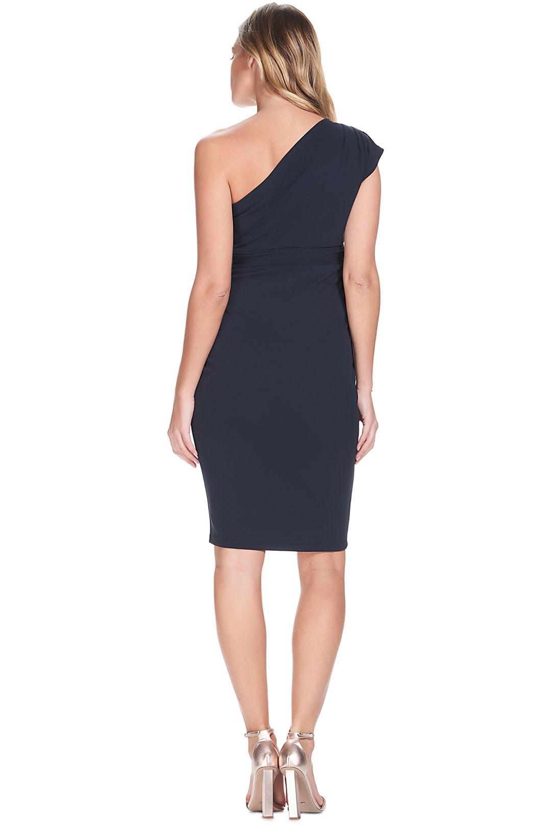Soon-Maternity-Julia-One-Shoulder-Dress-Navy-Back