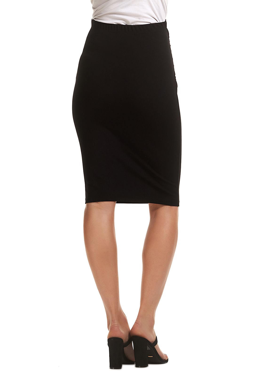 Soon-Maternity-Midi-Work-Skirt-Black-Back