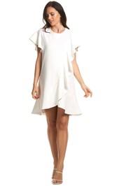 Soon-Maternity-Sarah-Ruffle-Dress-Ivory -Front