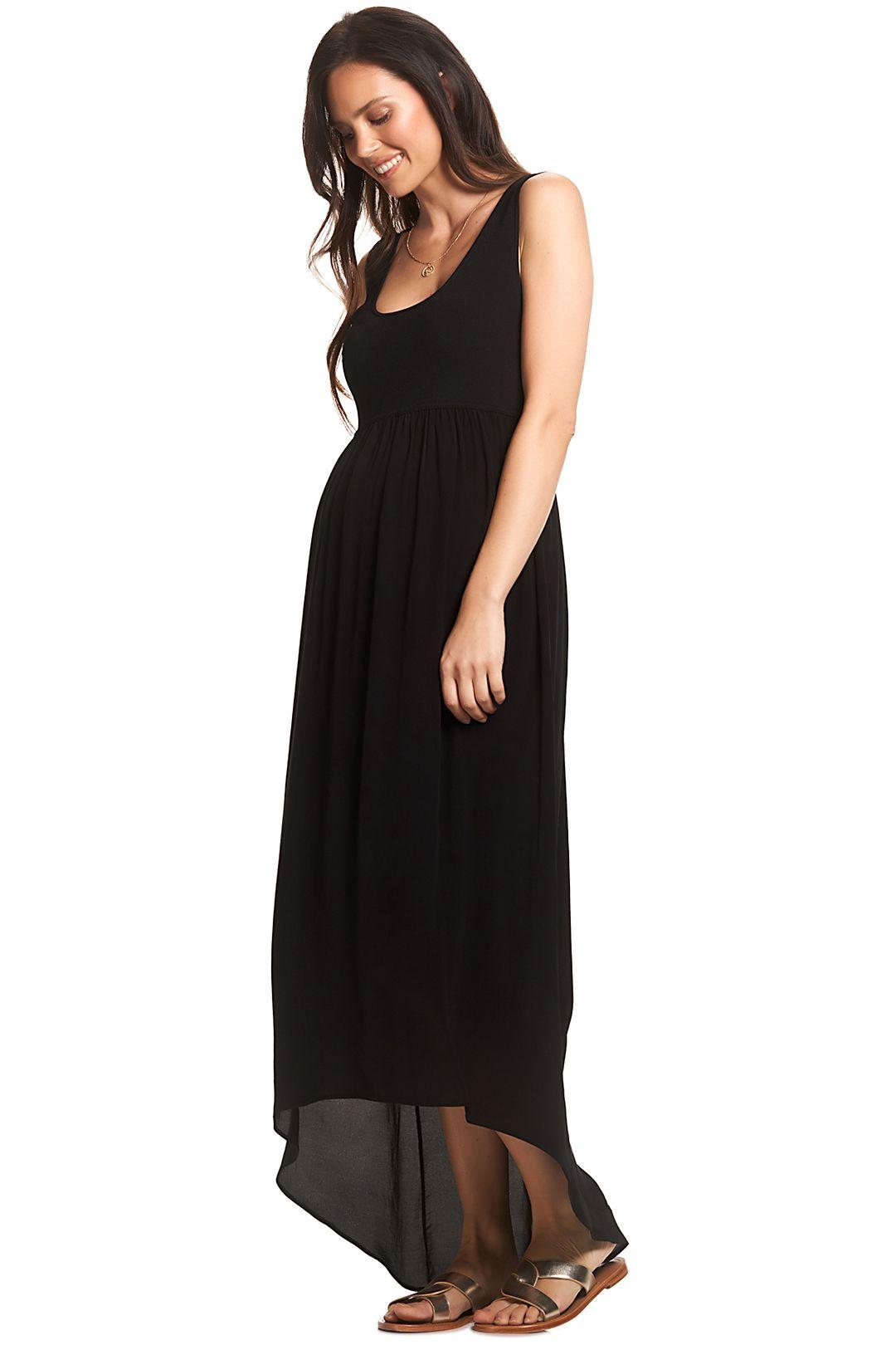 Soon-Maternity-Sia-Maxi-Dress-Black-Side