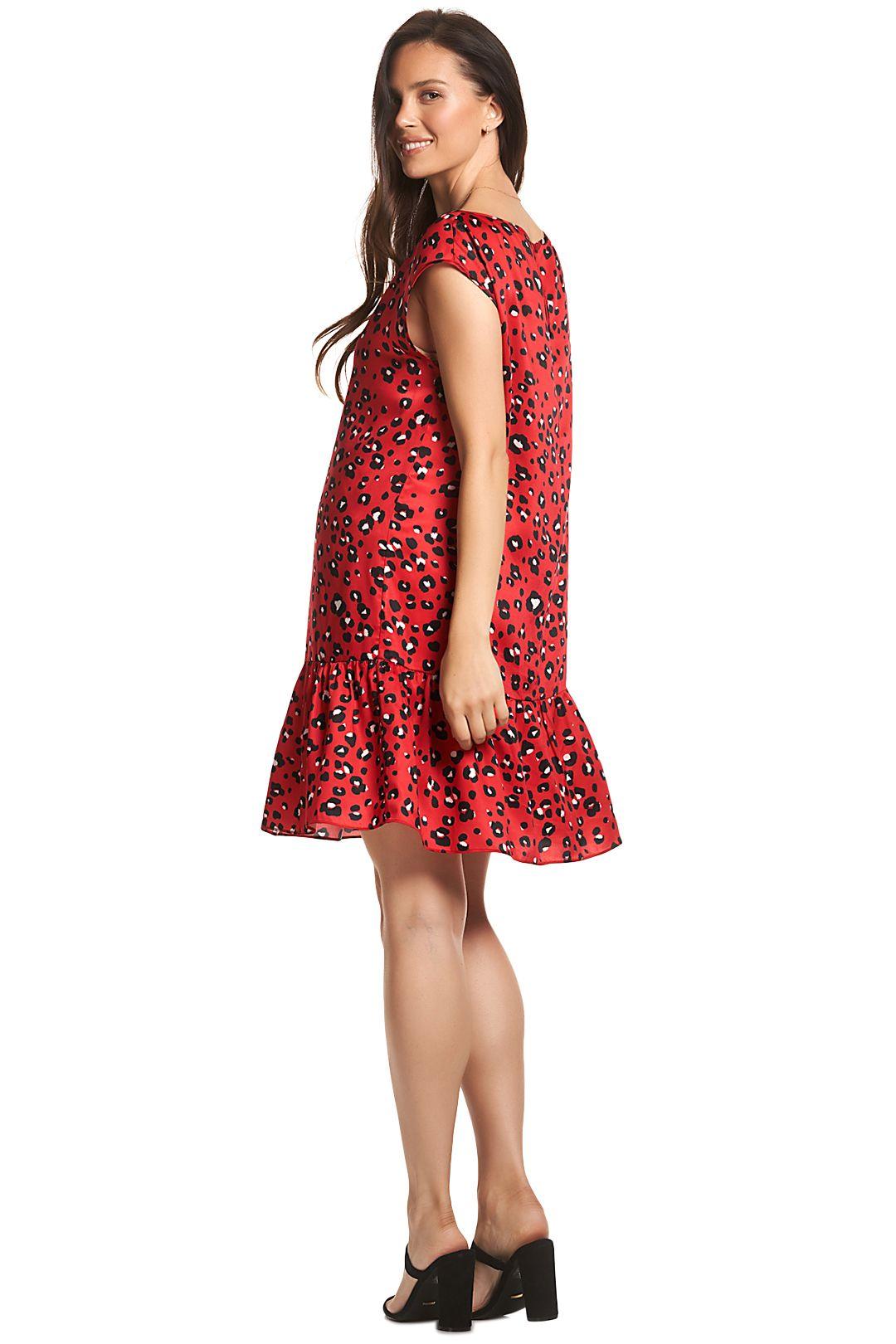 Soon-Maternity-Sydney-Dress-Red-Leopard-Back