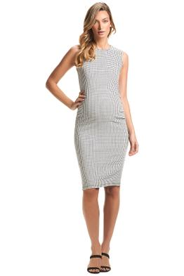 Soon-Maternity-Victoria-Tank-Dress-White-Check-Front