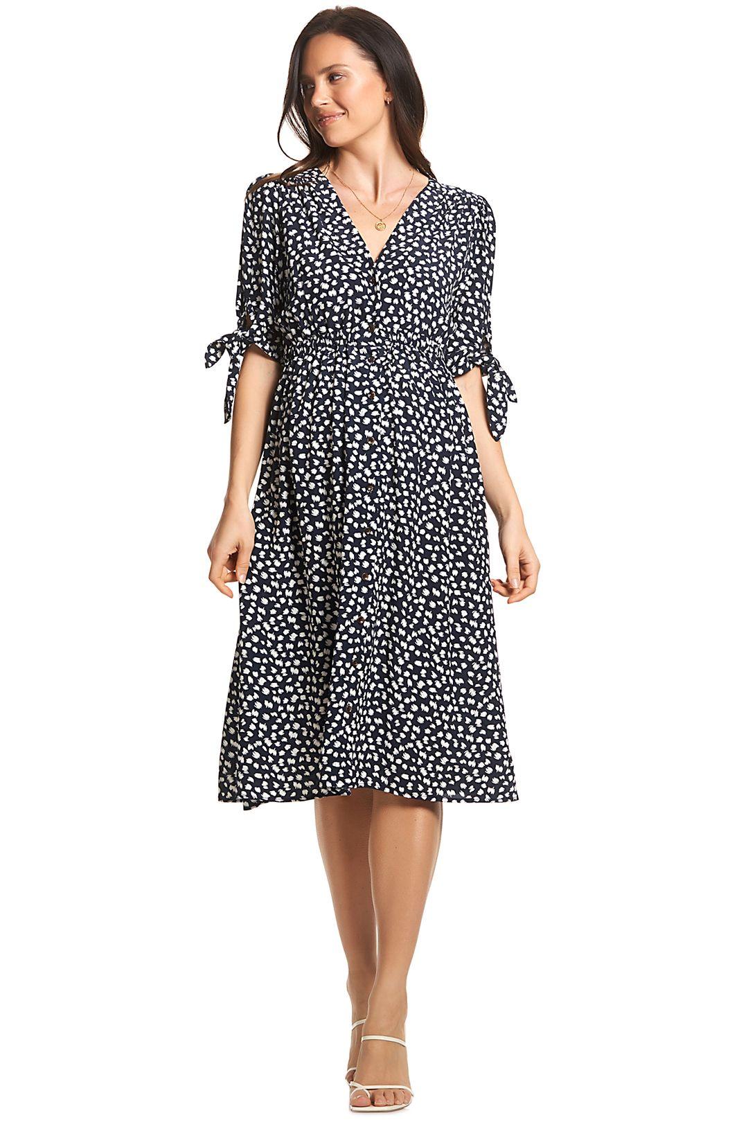 Soon-Maternity-Zippi-Dress-Navy-Speck-Front2
