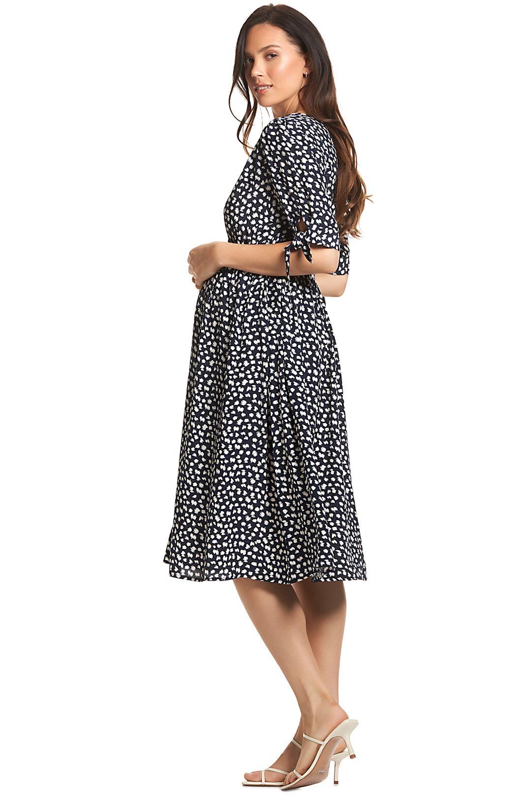 Soon-Maternity-Zippi-Dress-Navy-Speck-Side