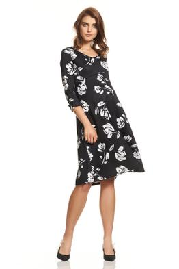Soon Maternity-Meghan-Swing-Dress-Black-Floral-Front