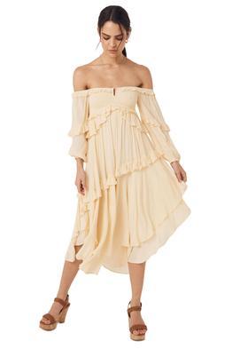 Spell Clementine Mermaid Dress Cream