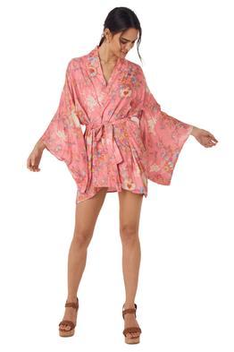 Spell Leo Short Robe Pink
