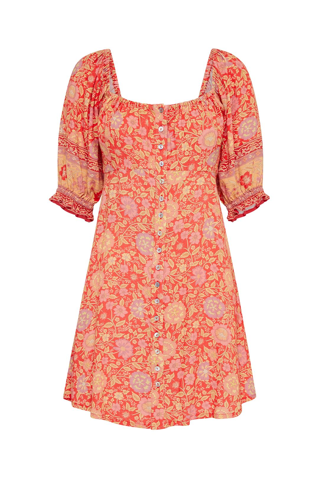 Spell Love Story Dress Red Coral Floral