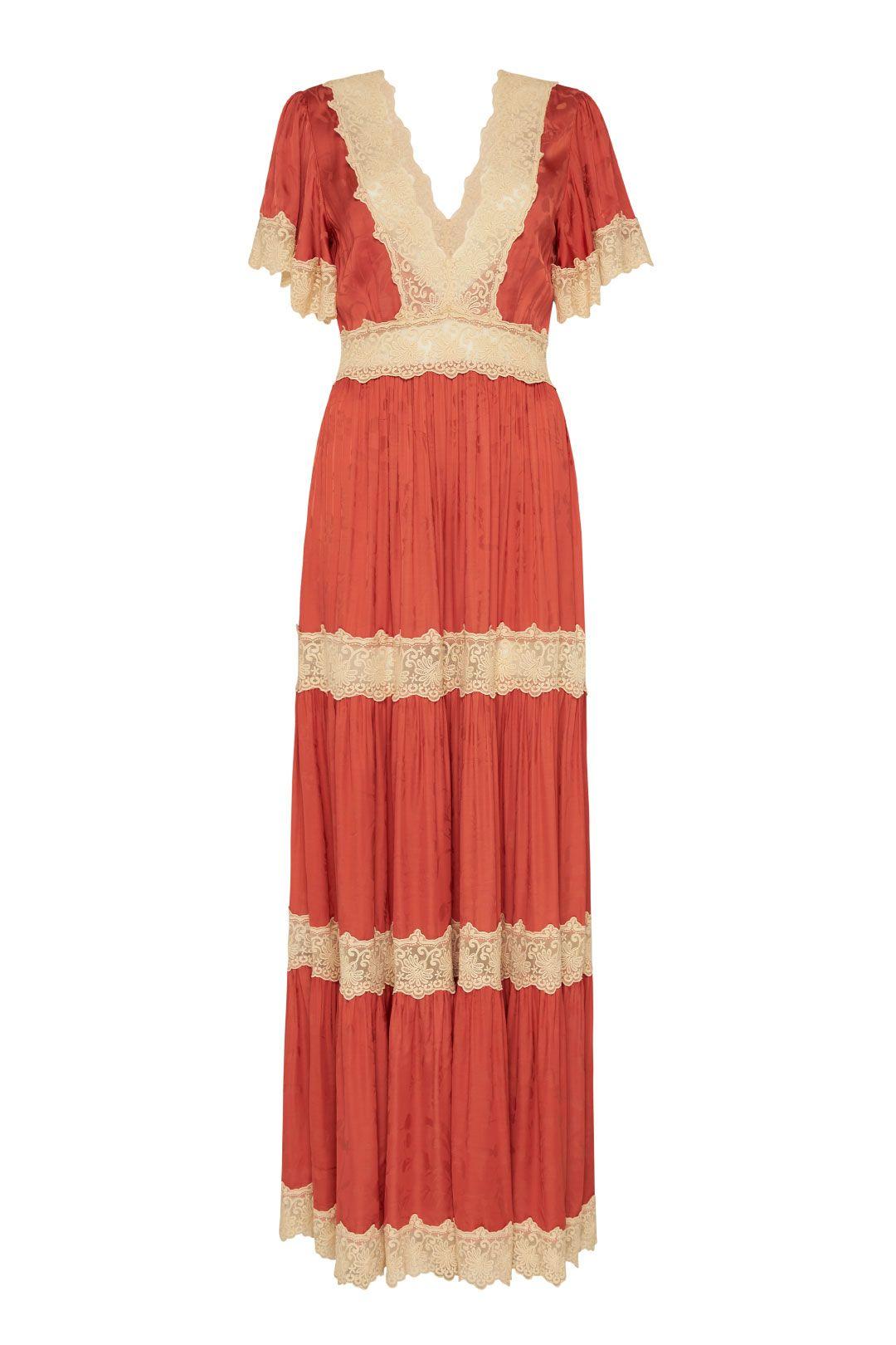 Ocean Gown Copper V Neck