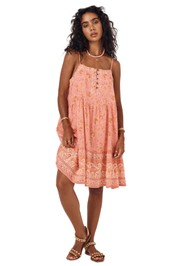 Spell Sundown Strappy Mini Dress Apricot