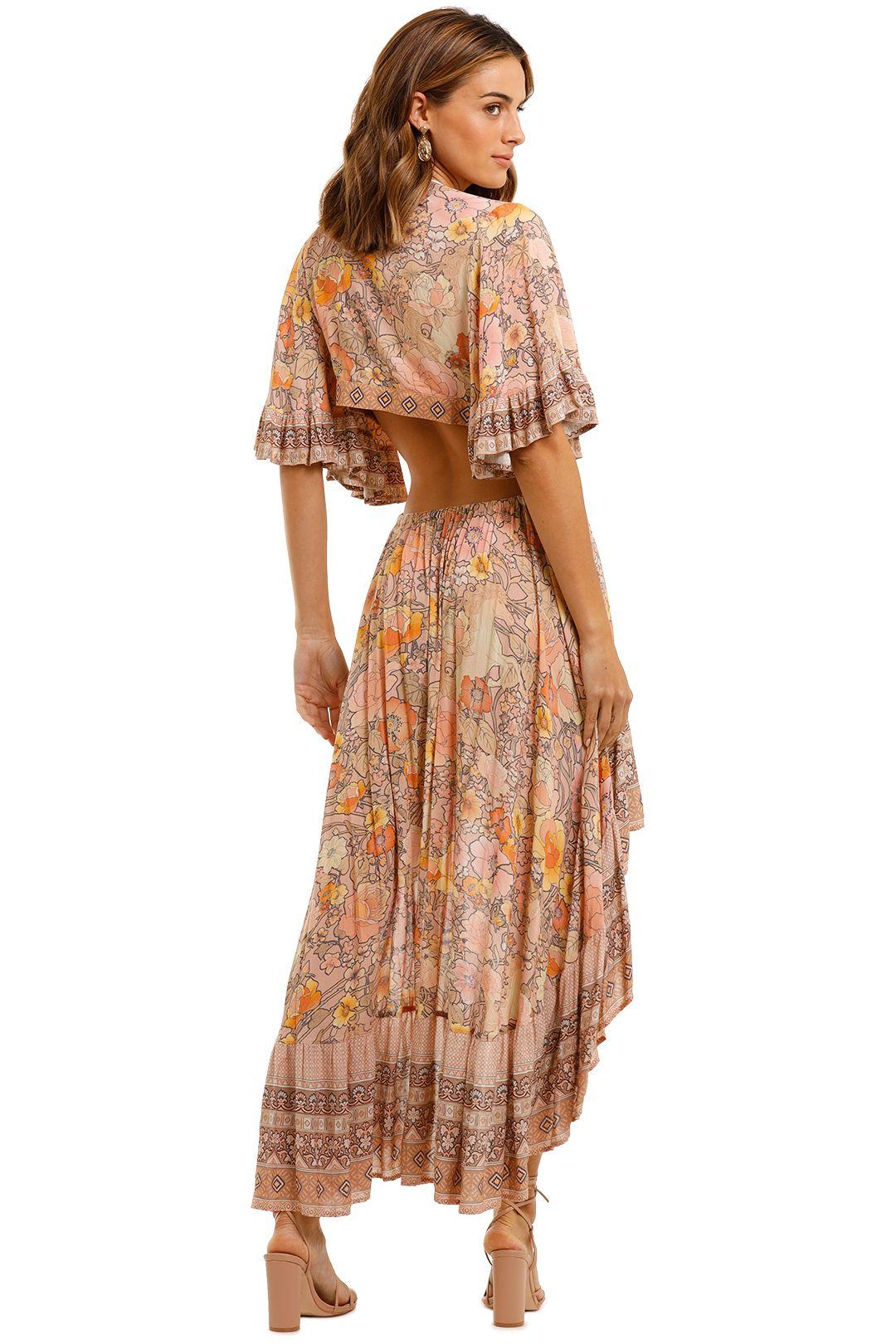 Spell Amethyst Bambi Gown Blush flutter sleeve