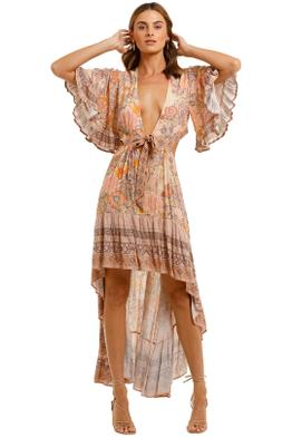 Spell Amethyst Bambi Gown Blush high low