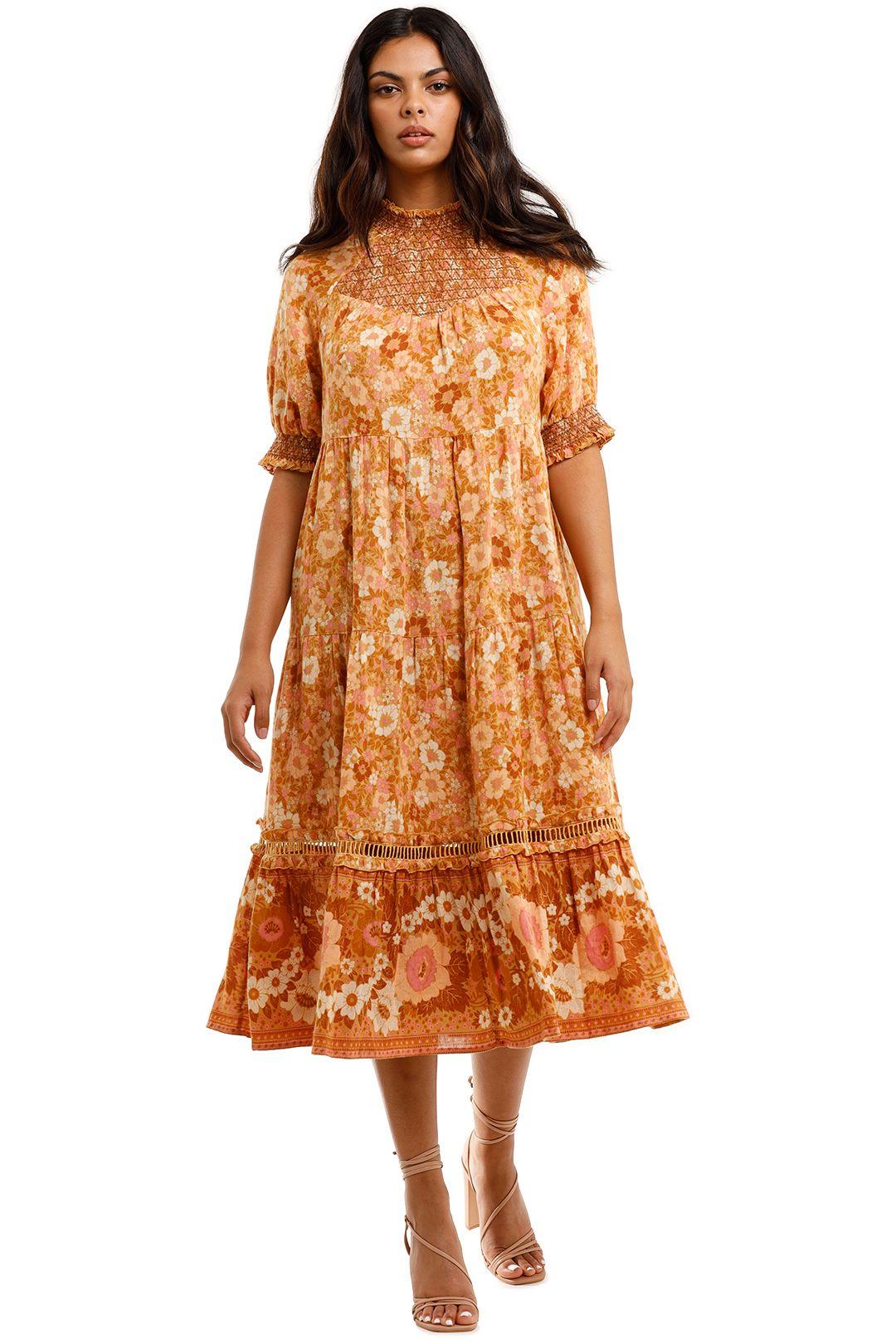 Spell Anne Midi Gown Peach Orange