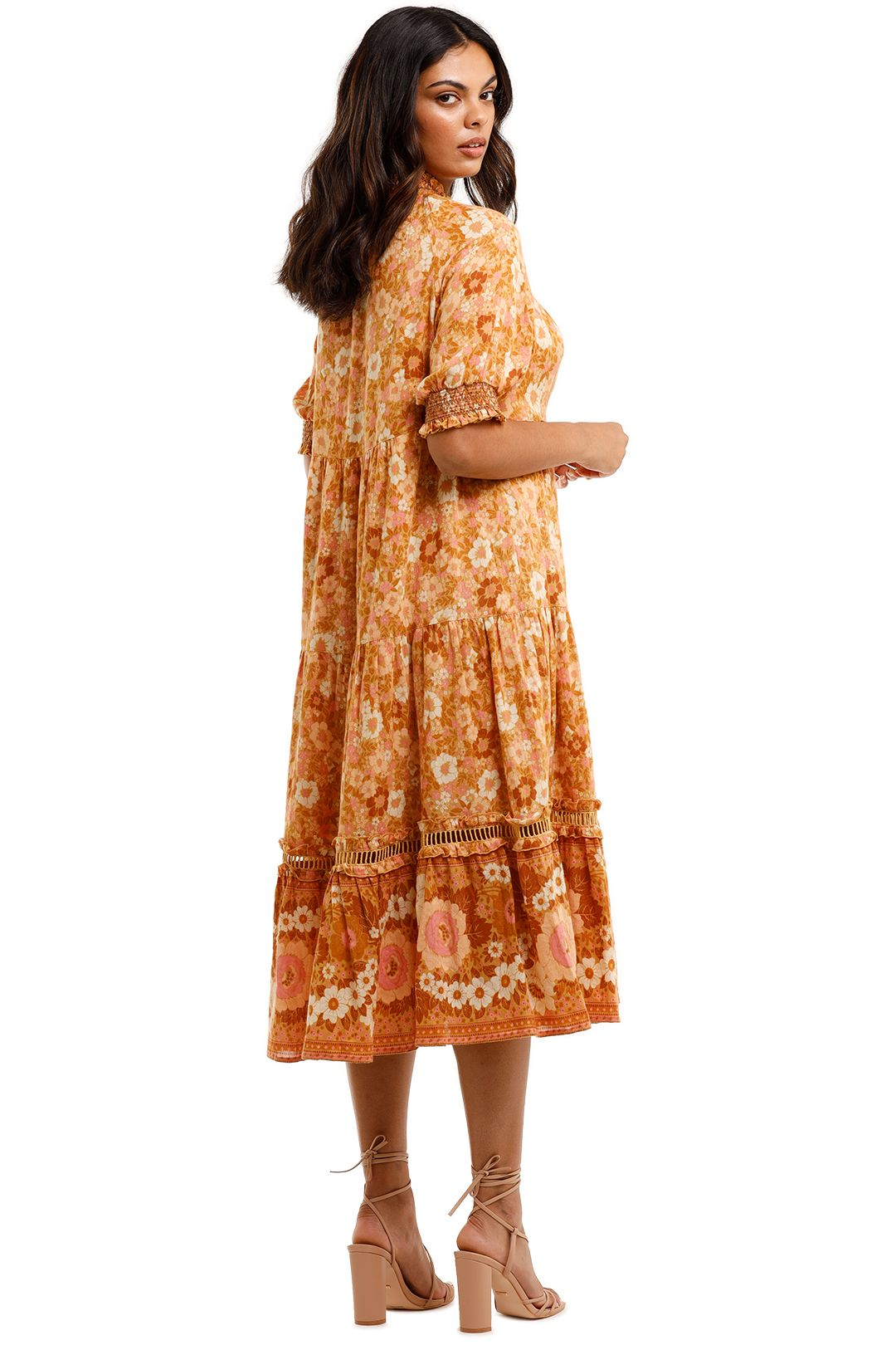 Spell Anne Midi Gown Peach Boho