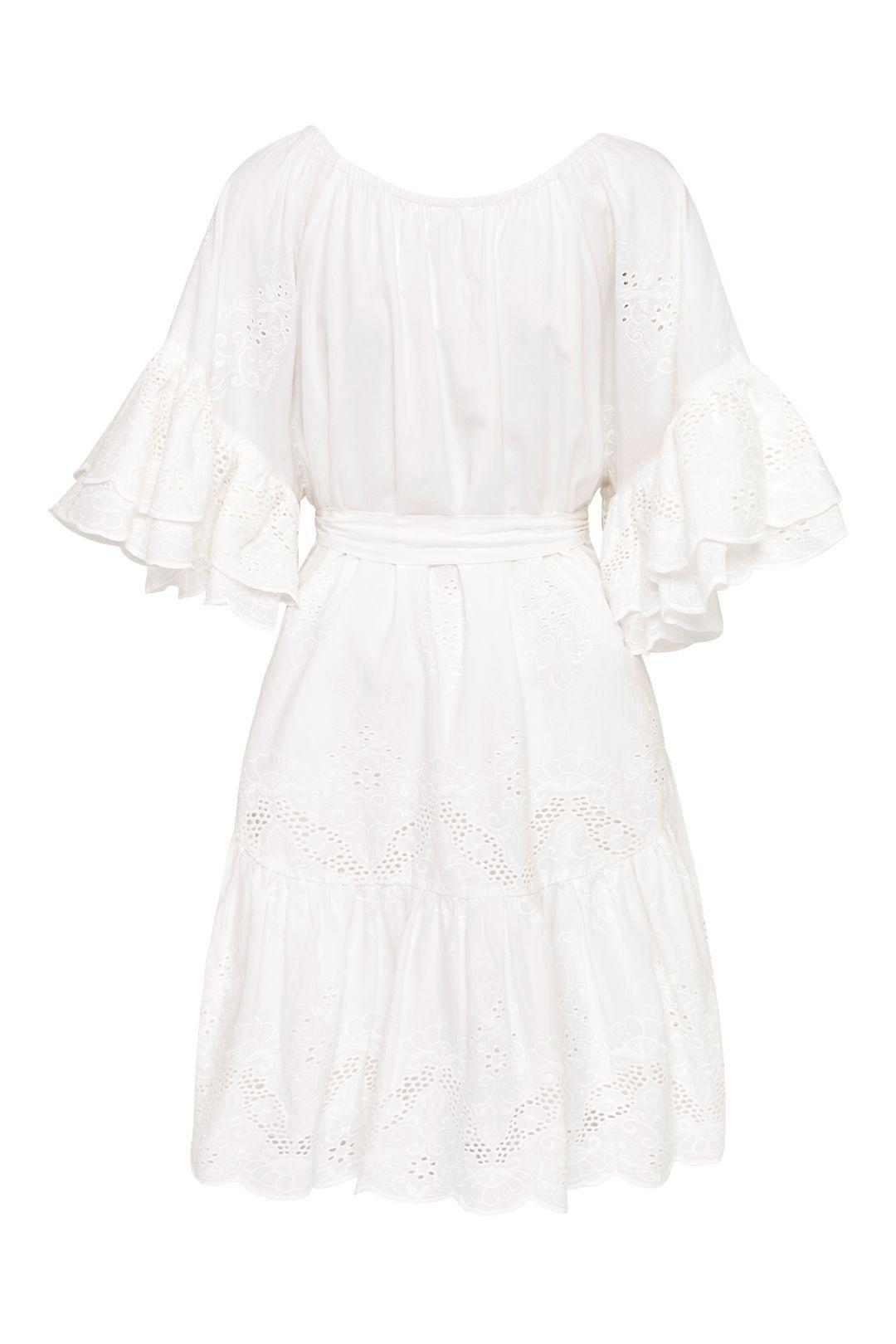 Spell Capulet Broderie Anglaise Frill Smock Dress White Ruffle