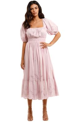 Spell Capulet Broderie Anglaise Soiree Dress Lilac