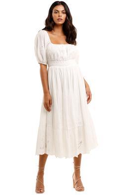 Spell Capulet Broderie Anglaise Soiree Dress White