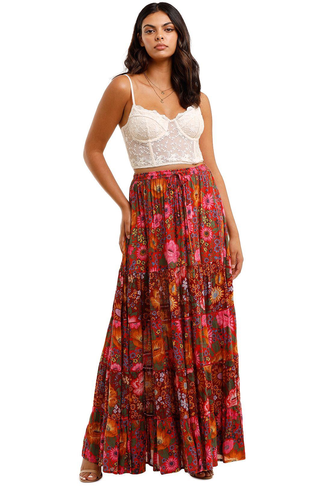 Spell Desert Daisy Maxi Skirt Tulip Print