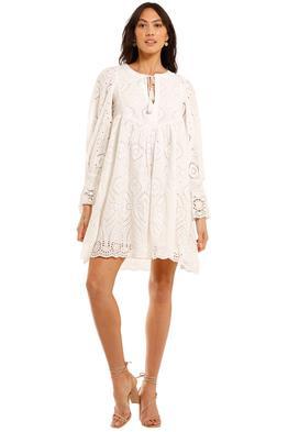 Spell Dylan Smock Dress White