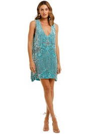 Spell Elsa Sequin Dress Opal beaded