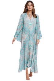 Spell Farrah Half Moon Gown blue