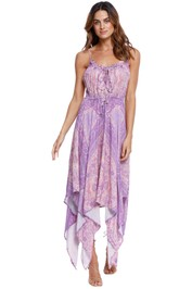 Spell Farrah Kerchief Sun Dress purple