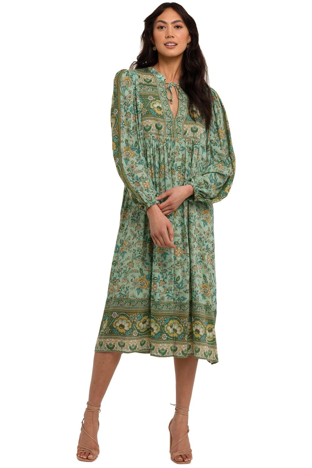 Spell Folk Song Boho Dress Sage
