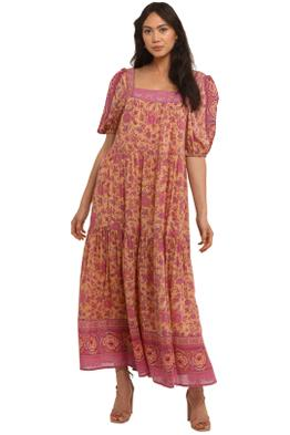 Spell Folk Song Square Neck Gown Blossom
